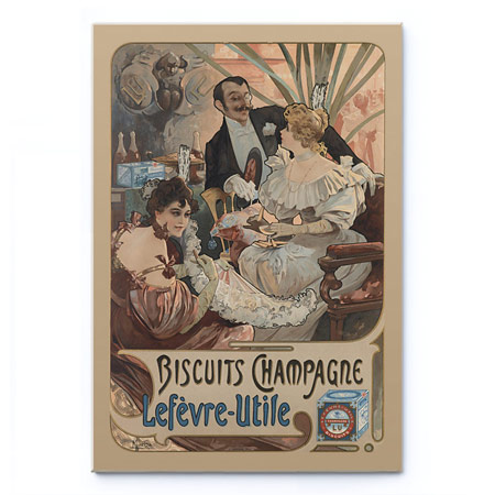 Sušenky Champagne / Biscuits Champagne / Lefevre-Utile (1896) - Alfons Mucha